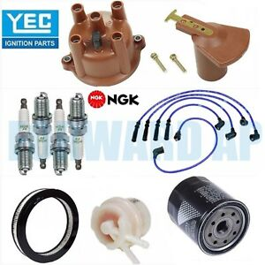 Tune Up Kit Cap Rotor Filters Wire Plugs For 1986 1990 Toyota Pickup L4 2 4l