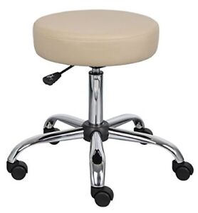 Stool Medical Doctor Office Lab Adjustable Professional Dental Exam Chair Beige