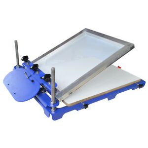 1 Color Silk Screen Printing Equipment Oversize T shirt Screen Printing Machine