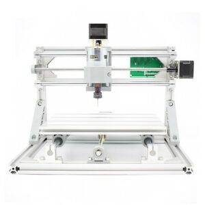 3 Axis Diy Cnc Router Kit Wood Carving Engraving Pcb Milling Machine 500mw Laser