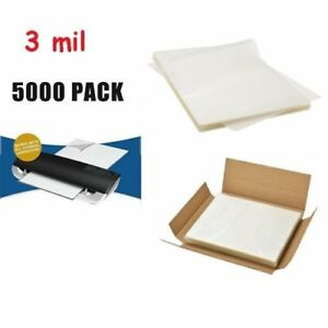 5000 Pack 3 Mil Letter Size Laminator Hot Laminating Pouches 9