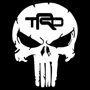 Trd Toyota Tundra Racing Punisher Skull Vinyl Decal Car Truck Window Sticker