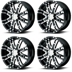Set 4 20 Helo He835 Black Machined Wheels 20x9 6x5 5 18mm Chevy Gmc 6 Lug Truck