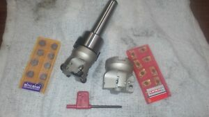 Bench Top Mt2 Rpmt 2 Shell Mill facemill Cutter Arbor 10 Pk Carbide Inserts