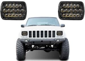 5x7 Cree Led Headlights For Jeep Yj Cherokee Xj Chevrolet Black