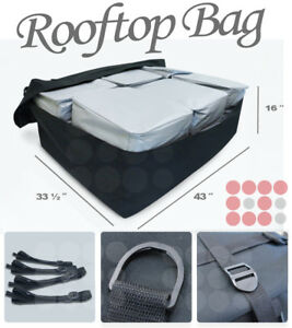 Fit Jeep Heavy Duty Cargo Bag Luggage Carrier Car Roof Top Mount Rack Storage