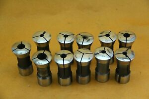 Lot Of Eleven 11 Round Collets For Royal Oak Tool Grinder Ro free Ship