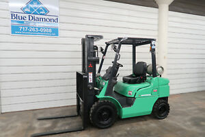2006 Mitsubishi Cat 5 000 Pneumatic Tire Forklift 3 Stage S s 3 280 Hours