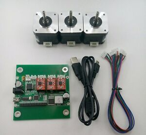Diy 3 axis Cnc Machine Parts laser Engraver grbl Control Board 3pc Stepper Motor