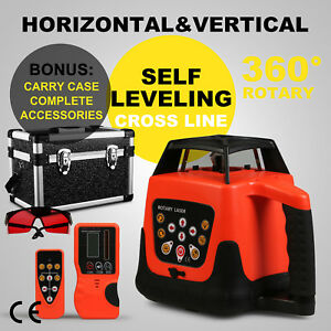 Rotary Laser Level Red Beam 5degree Automatic Horizontal Vertical Measuring Kit