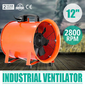 12 Industrial Fan Ventilator Extractor Blower Chemical Fume Rubber Feet Good
