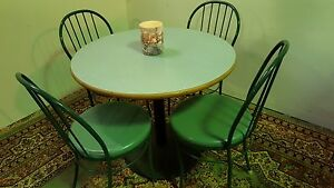 Cafe Restaurant Laminated Table And 4 Chairs Set