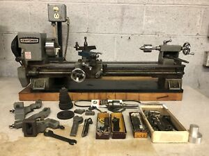 Vintage Craftsman 6 Lathe With Tooling