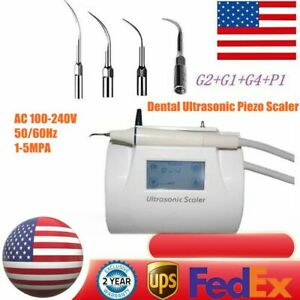 Dental Lcd Touch Screen Ultrasonic Piezo Scaler Teeth Scaling Handpiece 4 Tips