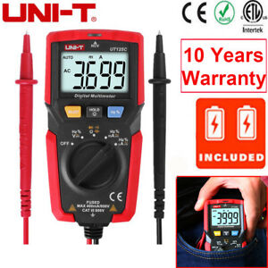 Uni t Ut125c Handheld Auto Range Ohm Amp Digital Multimeter Ac dc Voltage Tester