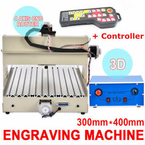 4 Axis Cnc Router 3040 Engraver Engraving Milling Wood Machine mach 3 Controller