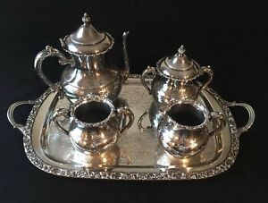 Atq Silver Plate Complete Tea Coffee Service Van Bergh Silver Co C 1892 1926