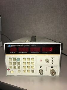 Hp 5343a Microwave Frequency Counter W Opt 001 011