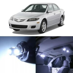 10 X White Led Interior Lights Package For 2003 2008 Mazda 6 Pry Tool