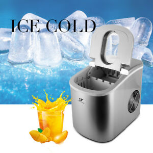 Stainless Steel Ice Maker Ice Cube Portable Countertop 26lbs Day