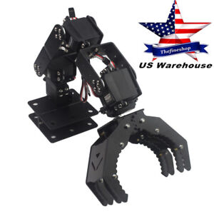 Robot Mechanical Arm Hand Claw Clamp Manipulator Frame 6dof For Arduino Diy Us