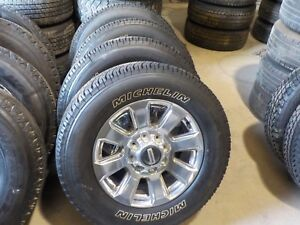 4 2017 2018 Ford F250 20 Grey Machined Wheels And Michelin Tires Bb523q