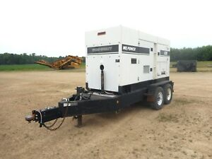 2005 Multiquip Dca220ssvu 176kw Generator On Trailer With Only 9763 Hours