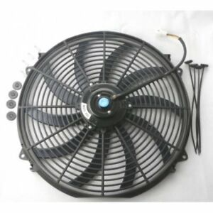 16 Inch Universal Slim Fan Push Pull Electric Radiator Cooling 12v W Mount Kit