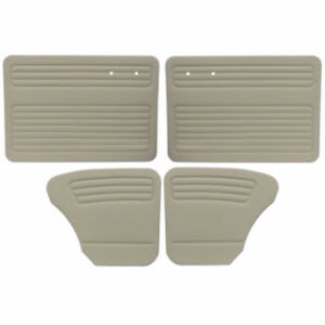 Vw Door Panels Full Set W O Pockets Off White Vinyl Fits Beetle 1956 1964