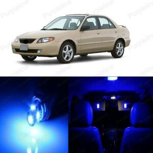 9 X Blue Led Interior Light Package For Mazda Protege 1999 2003 Pry Tool