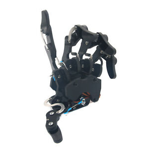Robot Mechanical Claw Clamper Gripper Left Arm Hand Five Finger With Servos