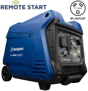 Westinghouse 4 500 watt Super Quiet Gas Powered Inverter Generator With Led And