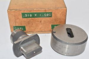 Punch Die Set Roper Whitney Diacro Oval Thor 316 X 1 020 3 1981