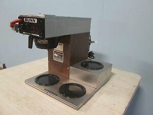 bunn Cwtf 15 Hd Commercial Pour over automatic Coffee Brewer W 3 Warmers