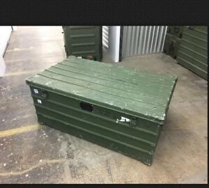 Heavy Duty Military Surplus Storage shipping Case Aluminum Box 45 x29 x19