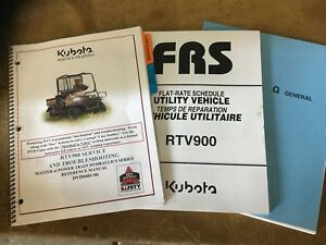 Kubota Rtv900 Service Troubleshooting Manual Dvds Flat rate Schedule 05 06