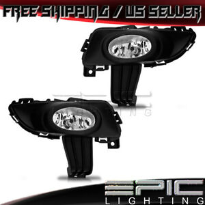 2003 2005 Mazda 3 Pair Performance Driving Fog Lights Clear Lens W Wiring Kit