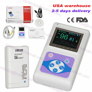 Contec Oled Hand held Pulse Oximeter Spo2 Blood Oxygen Monitor Usb Pc Software