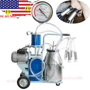 25l Stainless Steel Electric Cows Bucket Dairy Milking Machine Milker A Quality