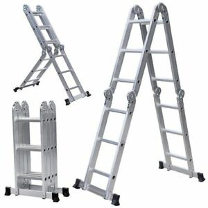 15 5ft Multi Purpose Ladder Heavy Duty Scaffold Folding Step Stairway Durable