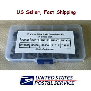 200 Pcs 10 Types Transistor Assortment Kit 20 Each With Box To 92 Us Seller