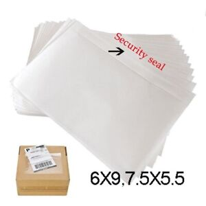 6 X 9 7 5 X 5 5 Clear Adhesive Top Loading Packing List Label Invoice Envelope
