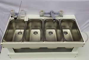 Portable Sink Mobile Concession 4 Compartment Sink Table Top Sink Sms