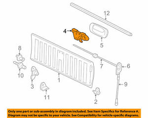New Gm Oem Tail Gate Tailgate Hatch handle 15188001