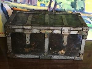 Antique English Biscuit Tin Tea Caddy Charles Faudree