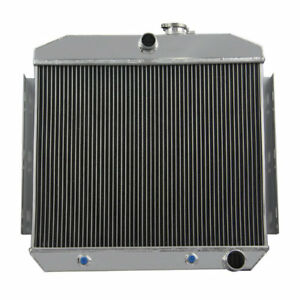 3row Aluminum Radiator For 1955 1957 Chevrolet Belair Del Ray L6 V8 Engines Us