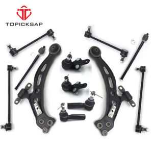 12 Pc Kit Front Control Arms Ball Joints Tie Rod Toyota lexus Camry Es300 Avalon
