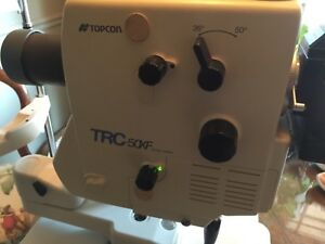 Topcon Trc 50xf Retinal Camera In Excellent Shape
