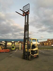 Hyster 4 Wheel Sit Down Forklift 5000lb Capacity 218 Lift Clean 42 Forks hd