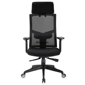 Ergonomic Mesh High Back Executive Computer Office Chair Black With Headrest